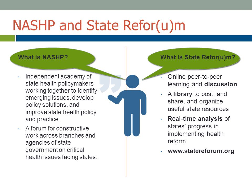 What is State Refor(u)m? Online peer-to-peer learning and discussion A library to post, and share, and organize useful state resources Real-time analy
