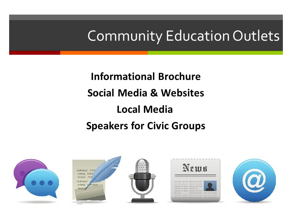 Community Education and Preparation  Develop a public version of the plan, removing any sensitive material.