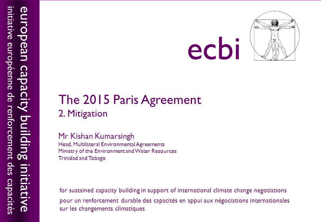 european capacity building initiativeecbi The 2015 Paris Agreement 2.