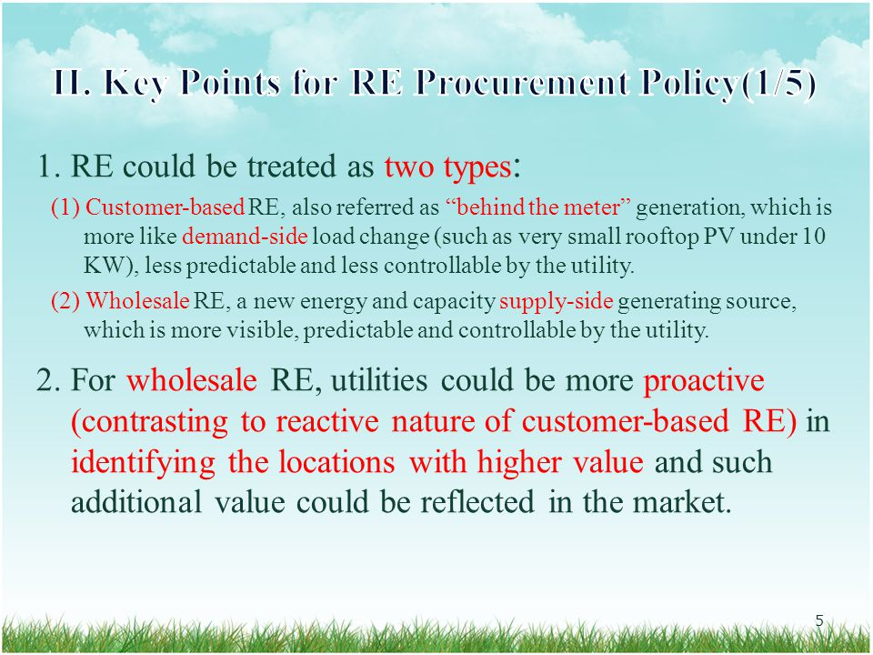 3.The increasing RE projects will make it more and more difficult for the utility to proactive grid planning.