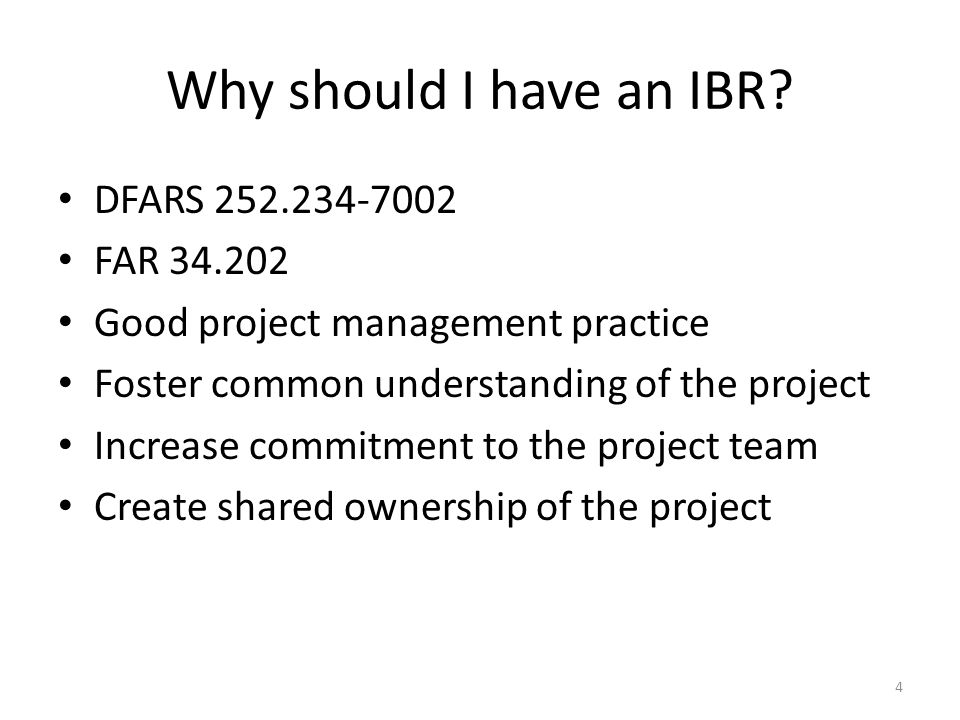 Why should I have an IBR.
