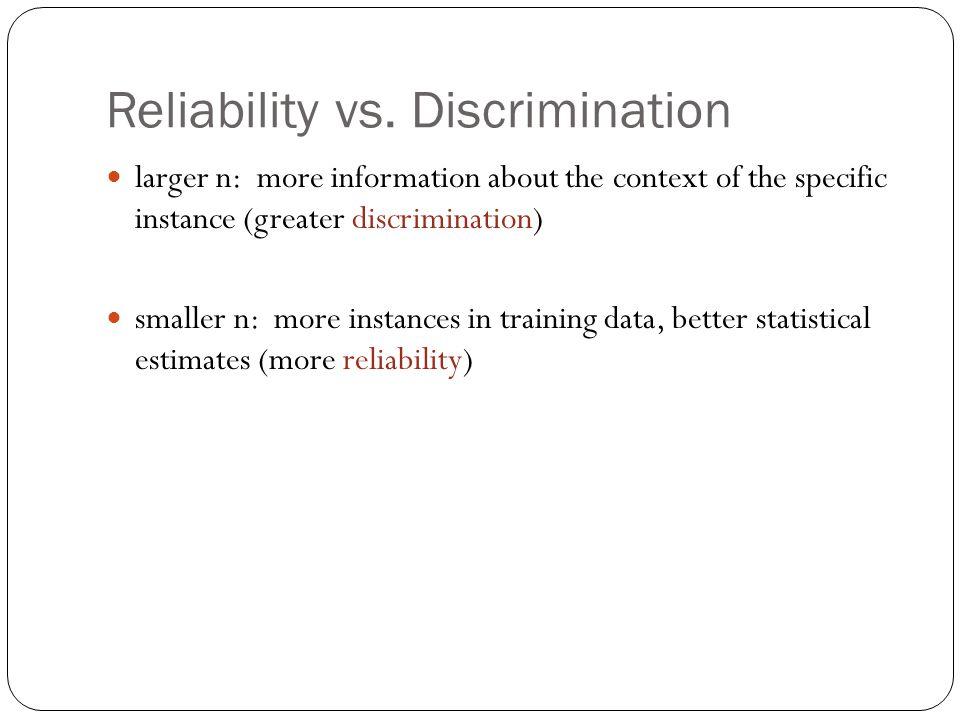 Reliability vs.
