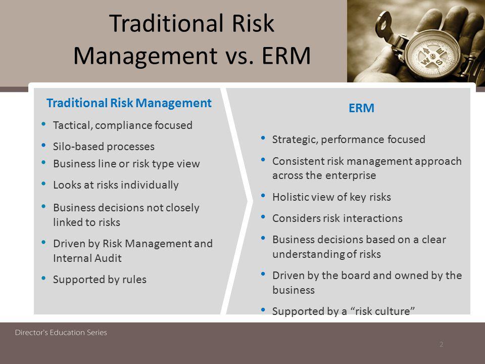 Traditional Risk Management vs.