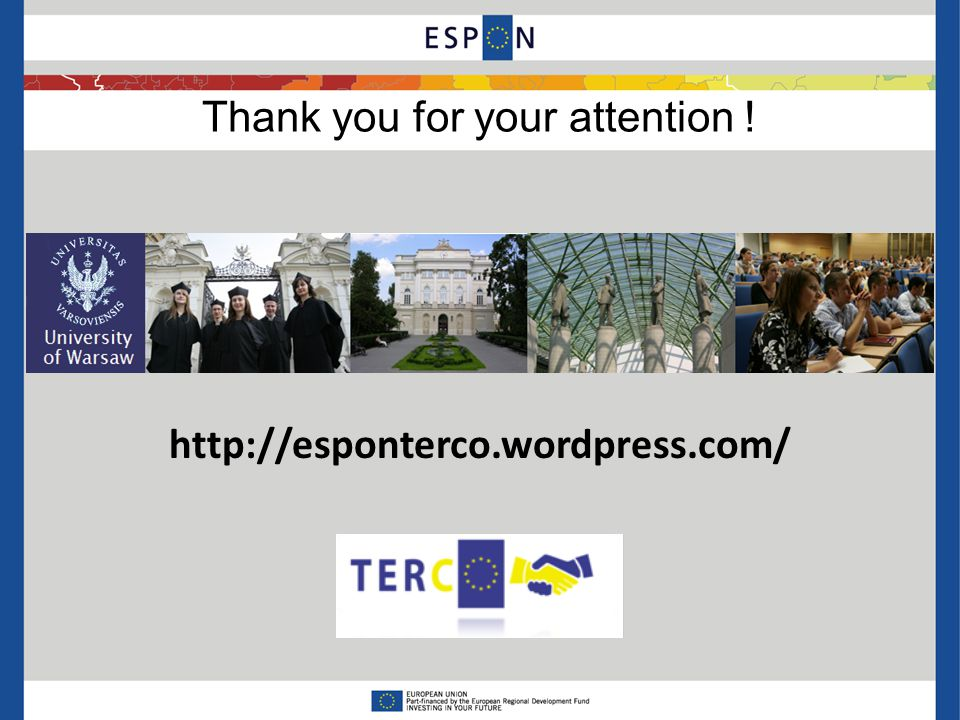 Thank you for your attention ! http://esponterco.wordpress.com/