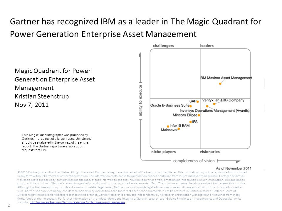 3 © 2011 Gartner, Inc.and/or its affiliates. All rights reserved.