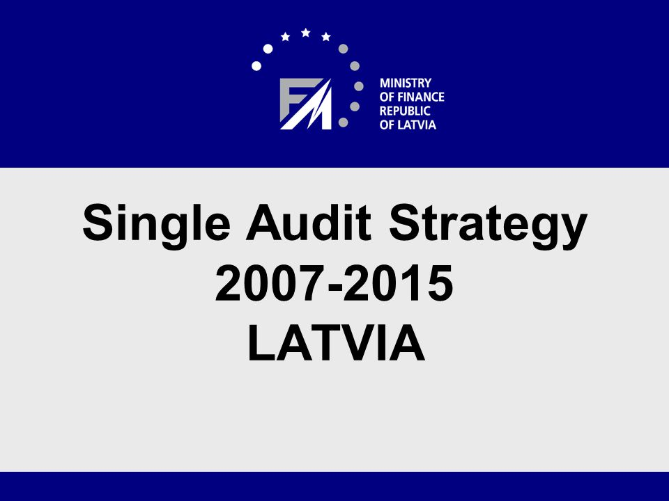 Audit System The Audit Authority functions are carried out by the Internal Audit Department of the Ministry of Finance, that: -Is directly subordinated to the State secretary of the Ministry of Finance -Is independent in its planning of activities, auditing and review work along with preparation of reports/statements -Does not get involved in administration processes of the EU funds in the Management Authority, Certification Authority, responsible and co-operation institutions as well as in payment processes in the Paying Authority