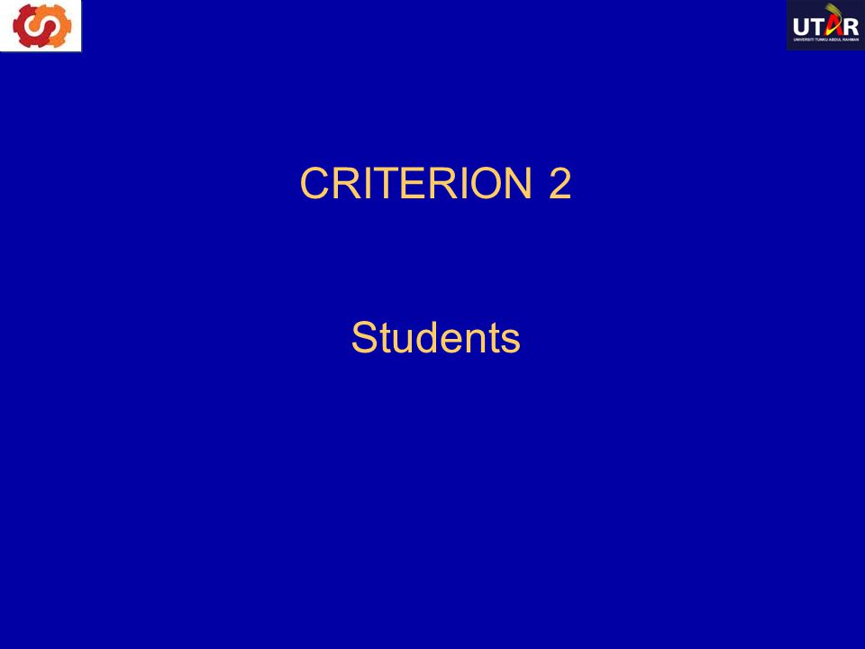 CRITERION 2 Students