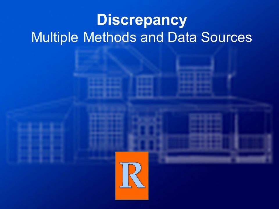 Discrepancy Multiple Methods and Data Sources