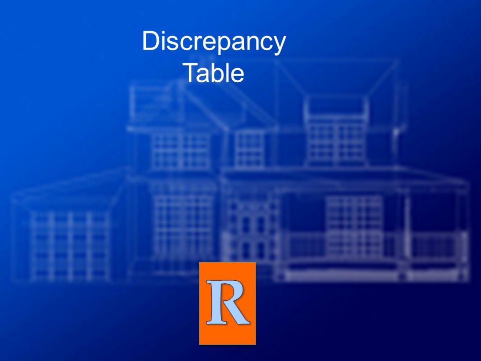 Discrepancy Table