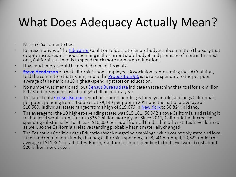 What Does Adequacy Actually Mean.
