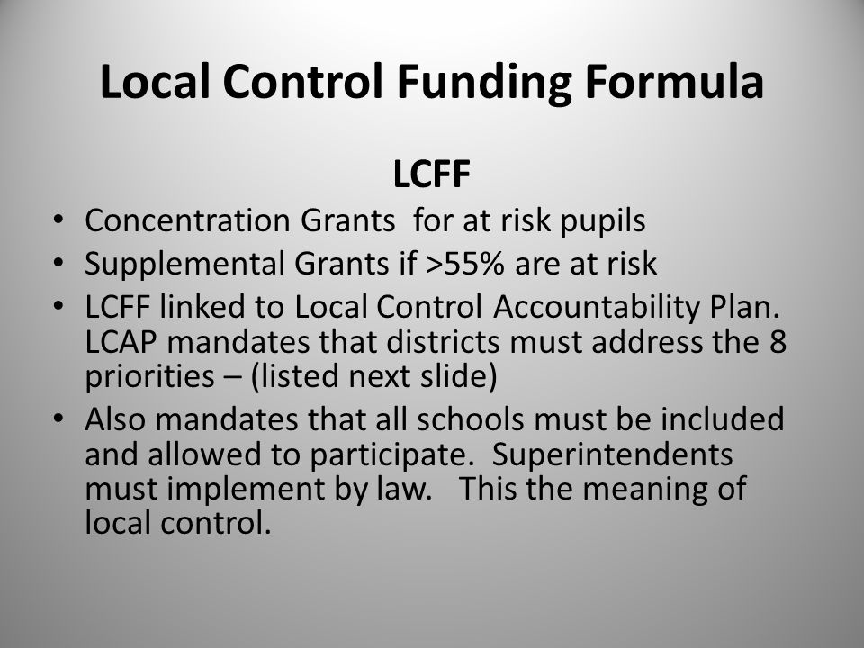 Eight Mandated Priority Areas to be Addressed for LCAP 1.Provide all students with credentialed teachers, instructional materials aligned with CCSS, and safe facilities.