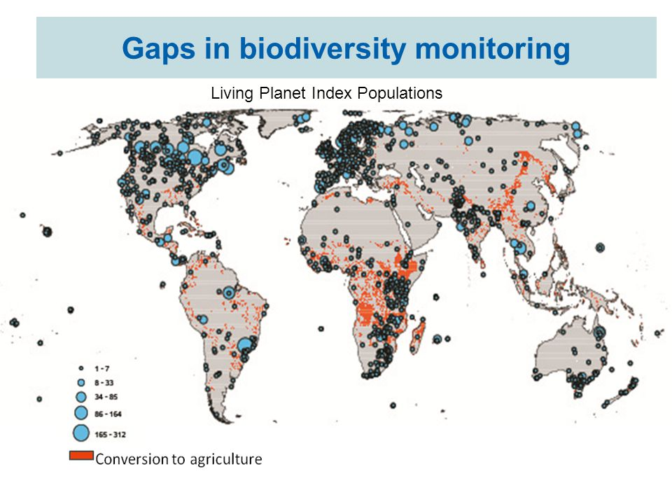 Gaps in biodiversity monitoring Living Planet Index Populations