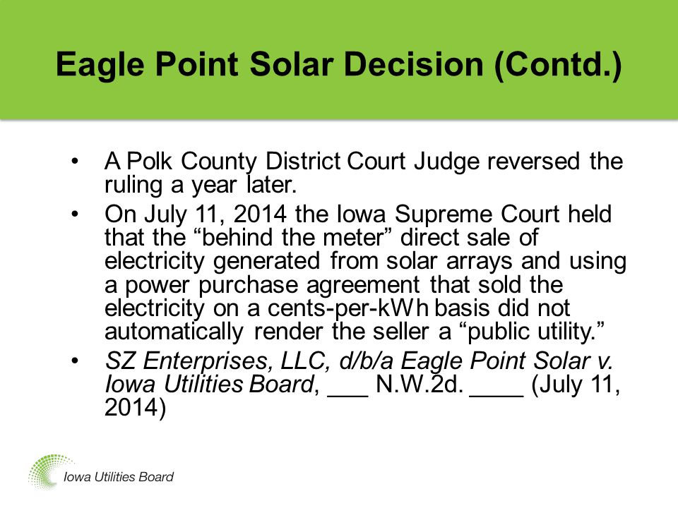 EPA's Proposed 111(d) Regulations For Existing Power Plants Iowa Department of Natural Resources is responsible for Iowa's environmental regulation.