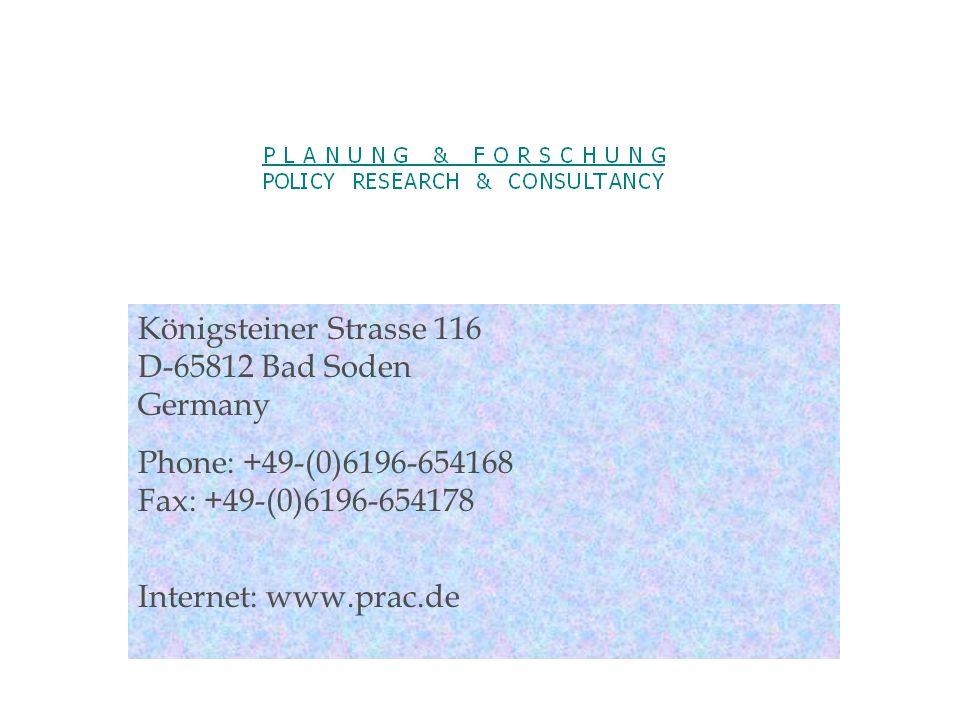 Königsteiner Strasse 116 D-65812 Bad Soden Germany Phone: +49-(0)6196-654168 Fax: +49-(0)6196-654178 Internet: www.prac.de