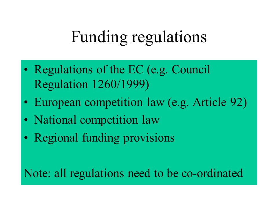 Criteria listed the Programme Complement The PC includes the specific funding regulations and criteria for all measures of the programme.