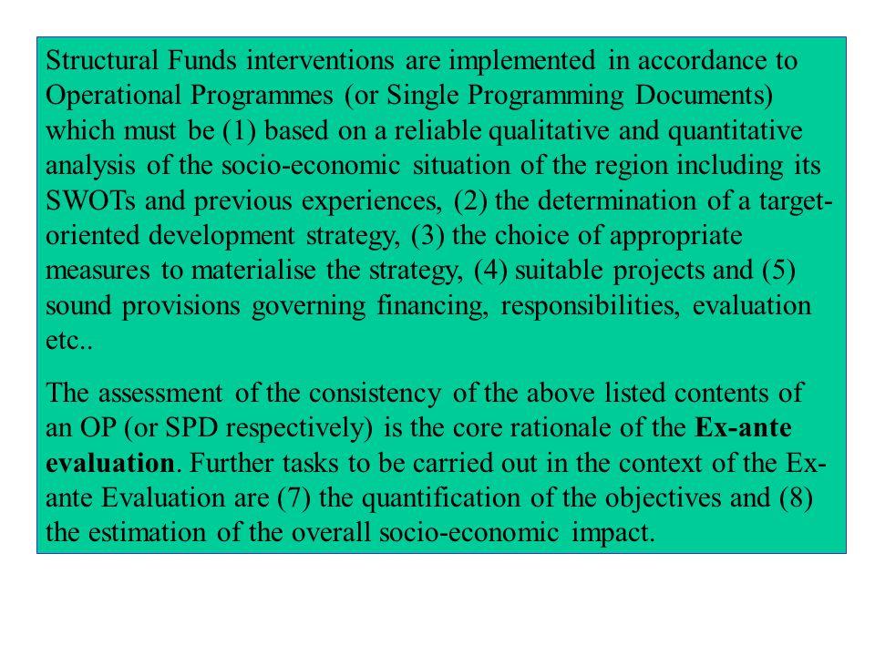 1. Ex-ante Evaluation