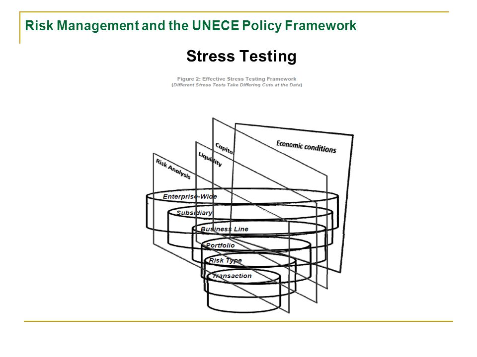 Risk Management and the UNECE Policy Framework Risk analysis and management principles  Risk-weighted capital adequacy standards (Basel I and its sequels)  Stress testing