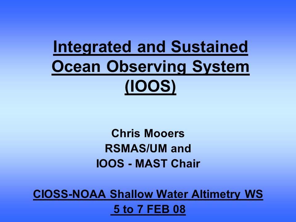 RCOOS circulation model verification/data assimilation data needs Sea surface temperature, winds, pressure, etc.