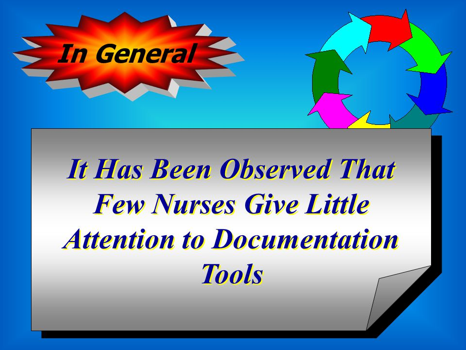 Provides a Permanent and Complete Document of Patient's Care Activities. Recording While