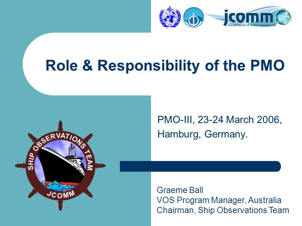 Graeme Ball VOS Program Manager, Australia Chairman, Ship Observations Team PMO-III, 23-24 March 2006, Hamburg, Germany.