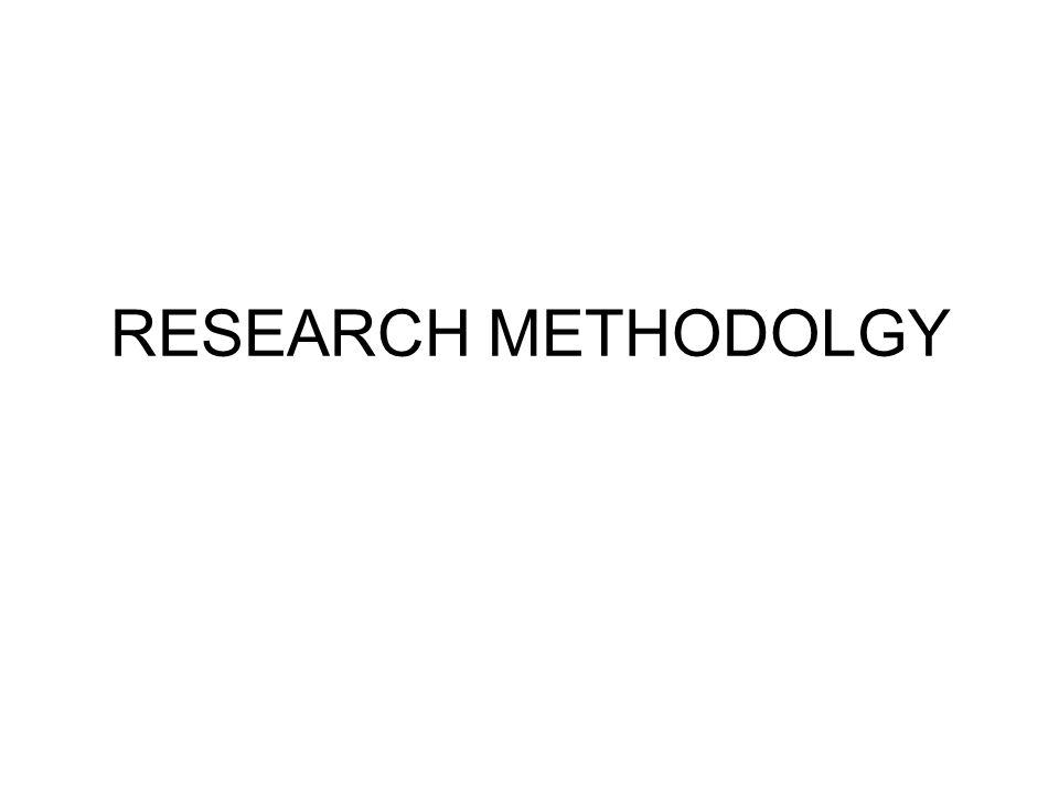RESEARCH METHODOLGY