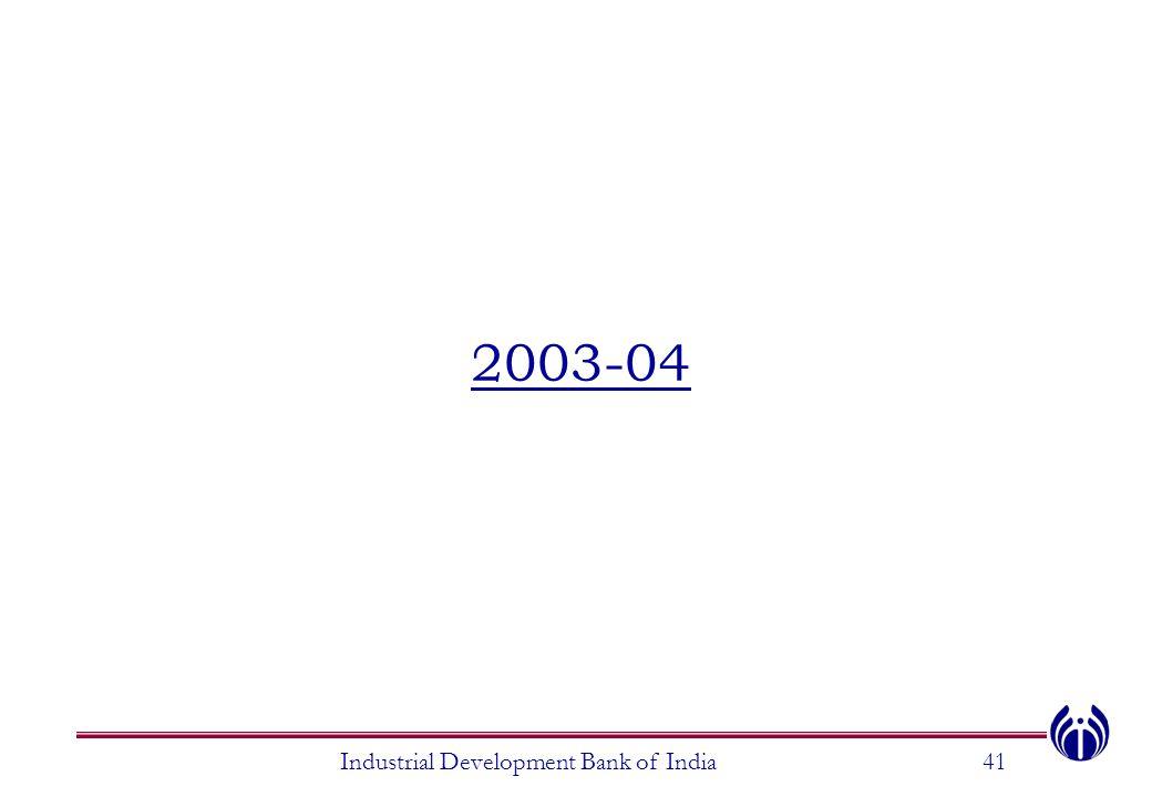 2003-04 Industrial Development Bank of India41