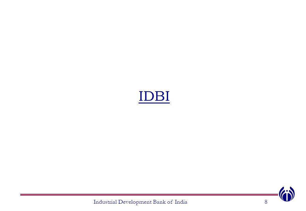 IDBI Industrial Development Bank of India8