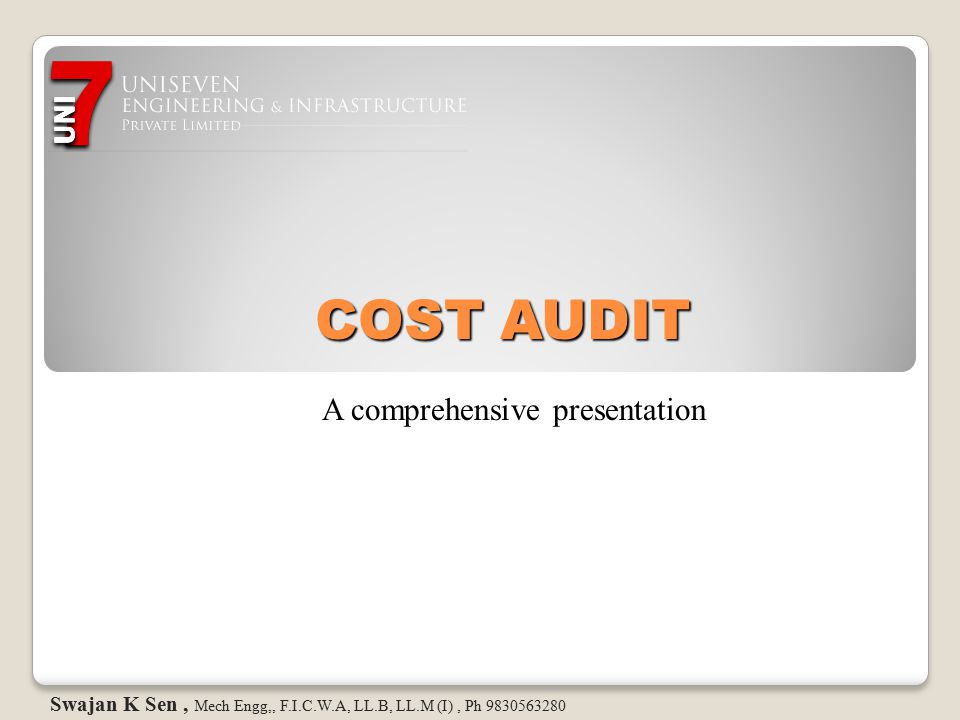 Statutory Audits in INDIA There used to be two types of Statutory Audits now that becomes three … 1.