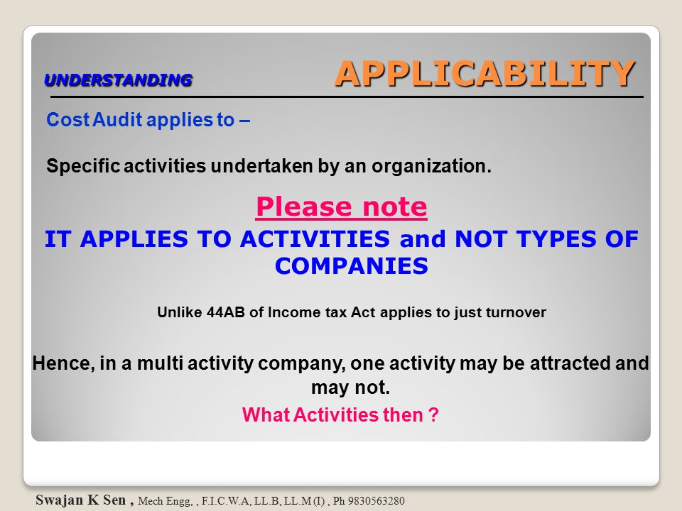 UNDERSTANDING APPLICABILITY How is p roduction & manufacturing defined..