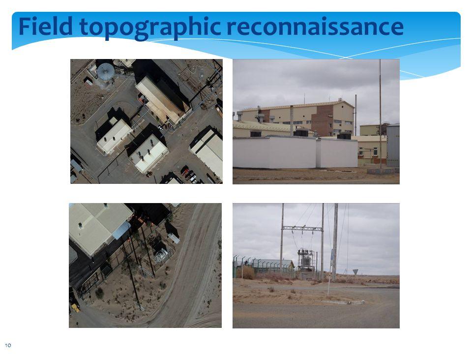 Field topographic reconnaissance 10