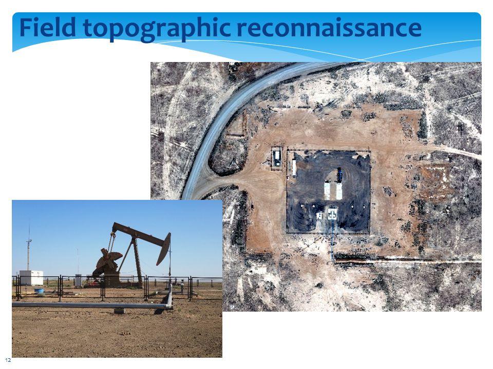 Field topographic reconnaissance 12