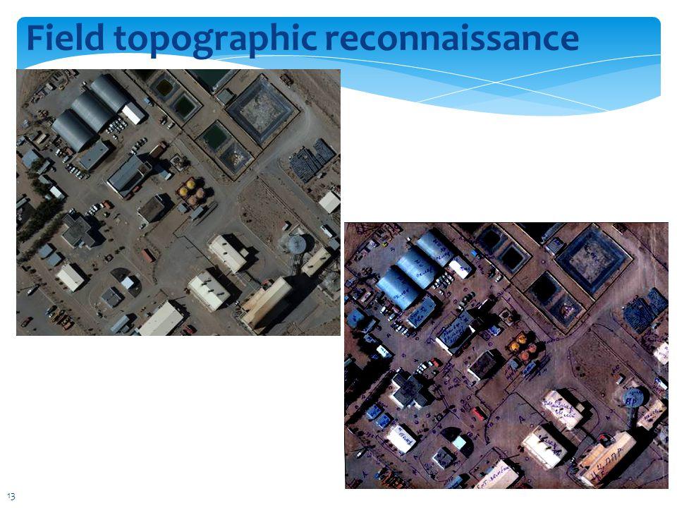 Field topographic reconnaissance 13