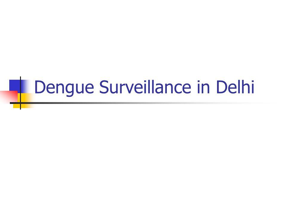 Dengue Surveillance in Delhi