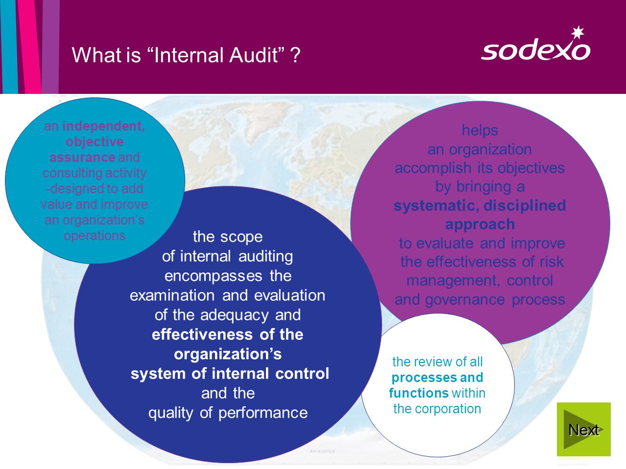page 2 helps an organization accomplish its objectives by bringing a systematic, disciplined approach to evaluate and improve the effectiveness of risk management, control and governance process What is Internal Audit .