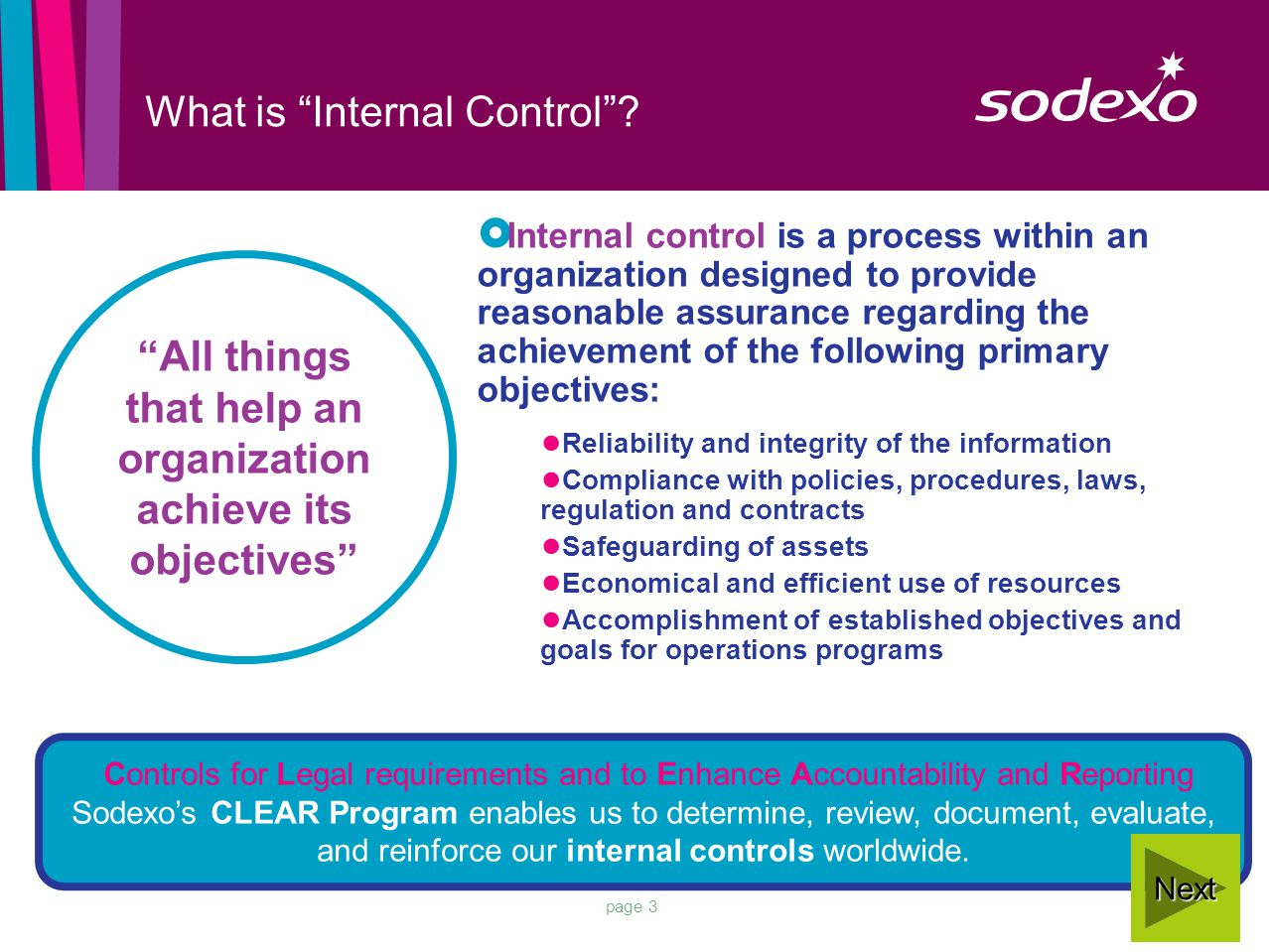 page 3 What is Internal Control .