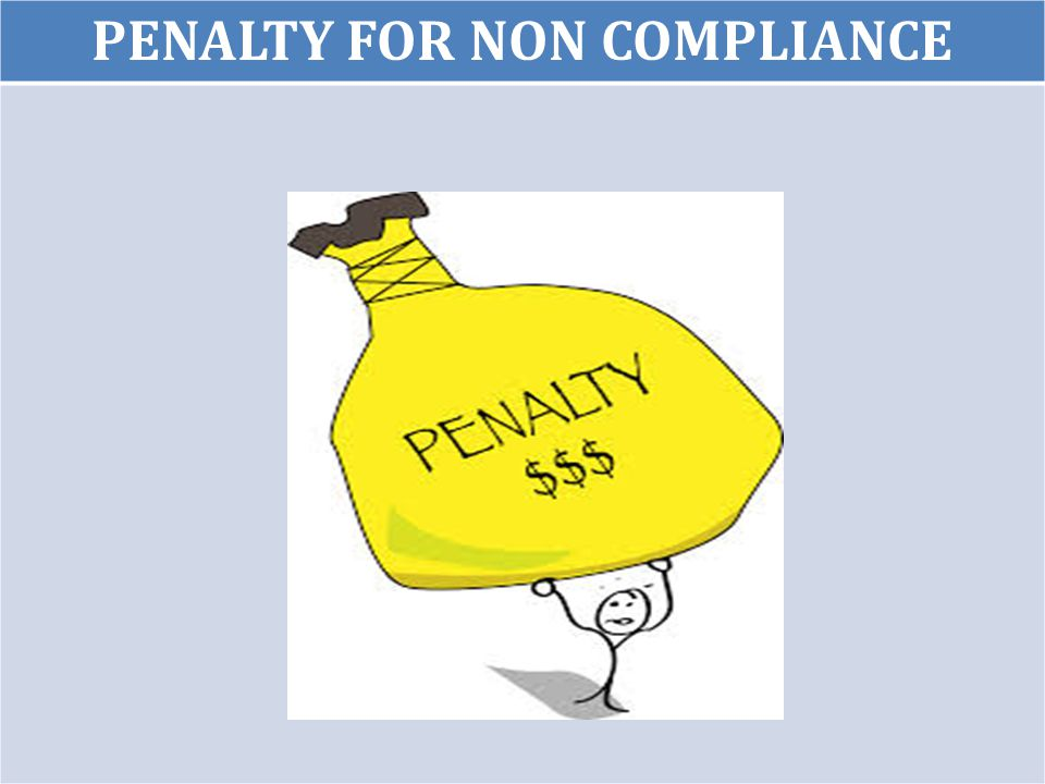 8 PENALTY FOR NON COMPLIANCE