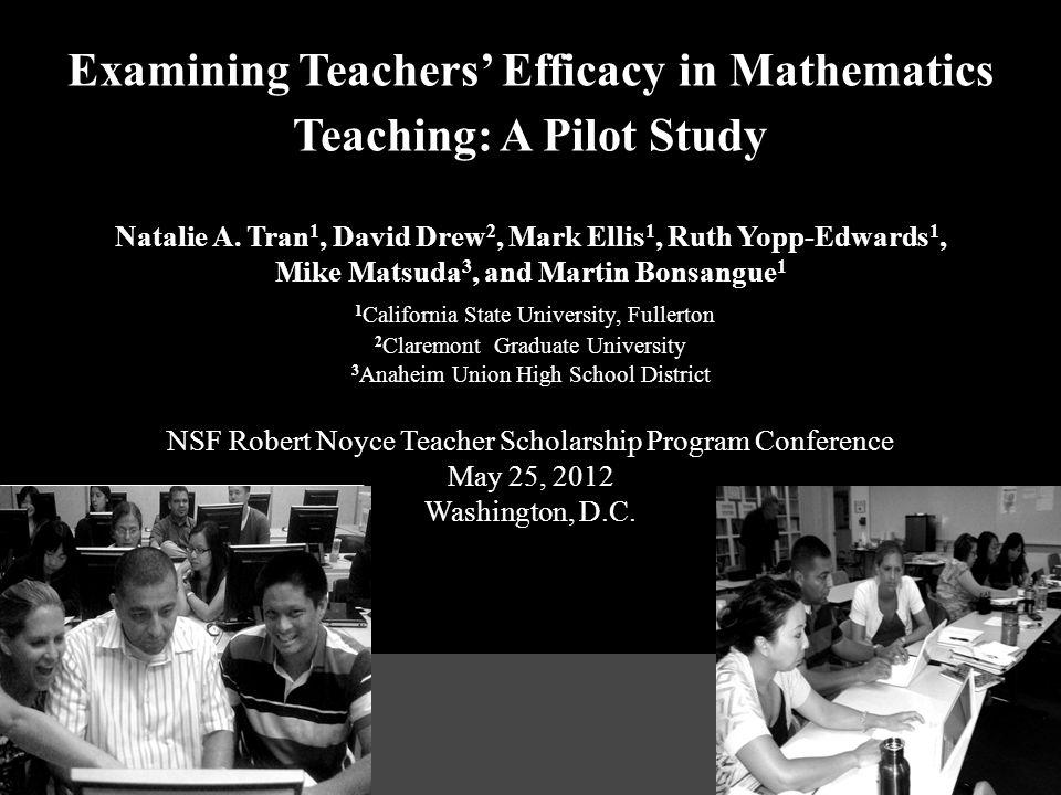 Examining Teachers' Efficacy in Mathematics Teaching: A Pilot Study Natalie A.