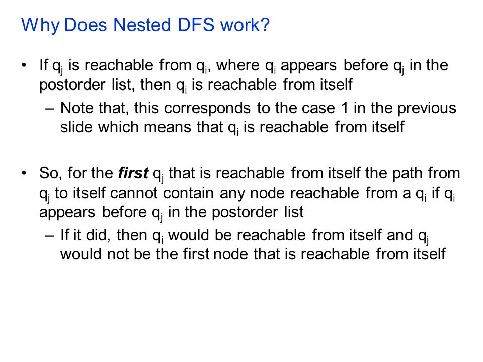 Why Does Nested DFS work.