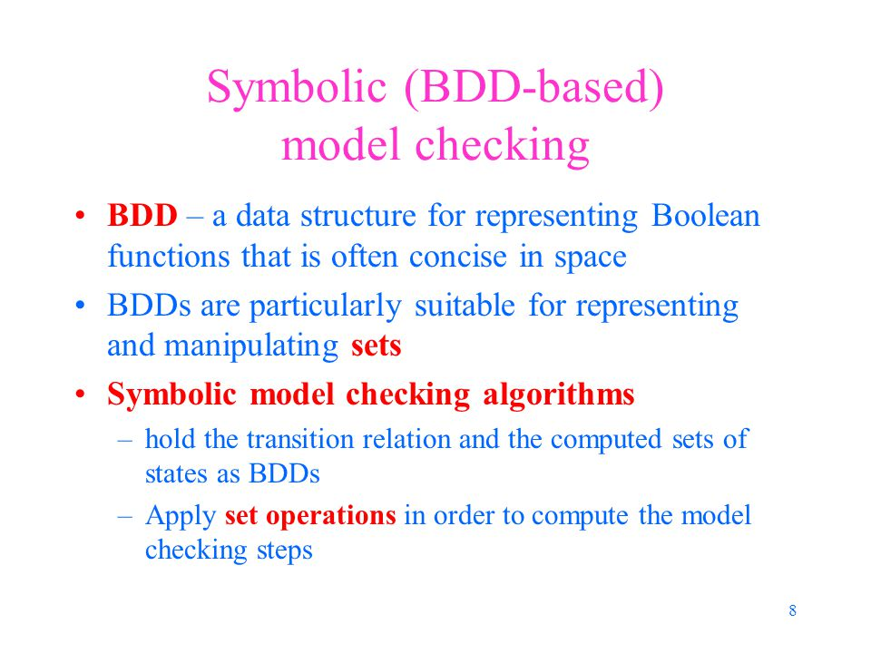 39 Main characteristics of the distributed algorithm Dependency graph, containing only accepting states and border states, is used to preserve limited amount of information Each process holds its own dependency graph NDFS starts from a state only after all its successors are search by DFS and NDFS NDFS is not performed in parallel with another NDFS