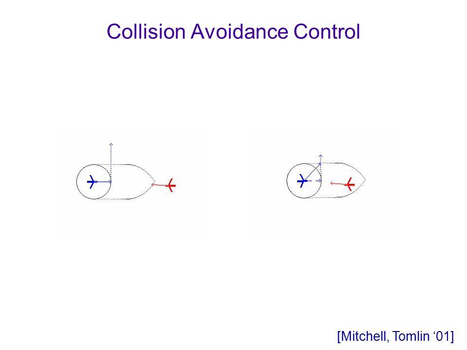 Collision Avoidance Control [Mitchell, Tomlin '01]