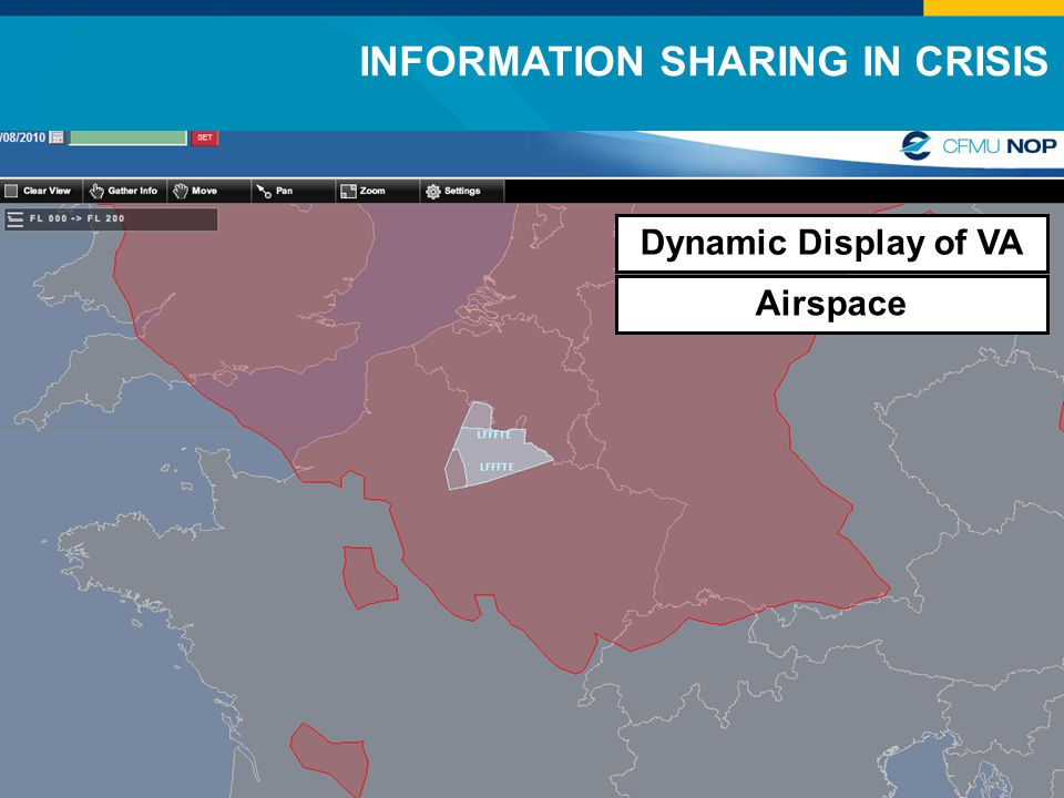 INFORMATION SHARING IN CRISIS Dynamic Display of VA Airspace