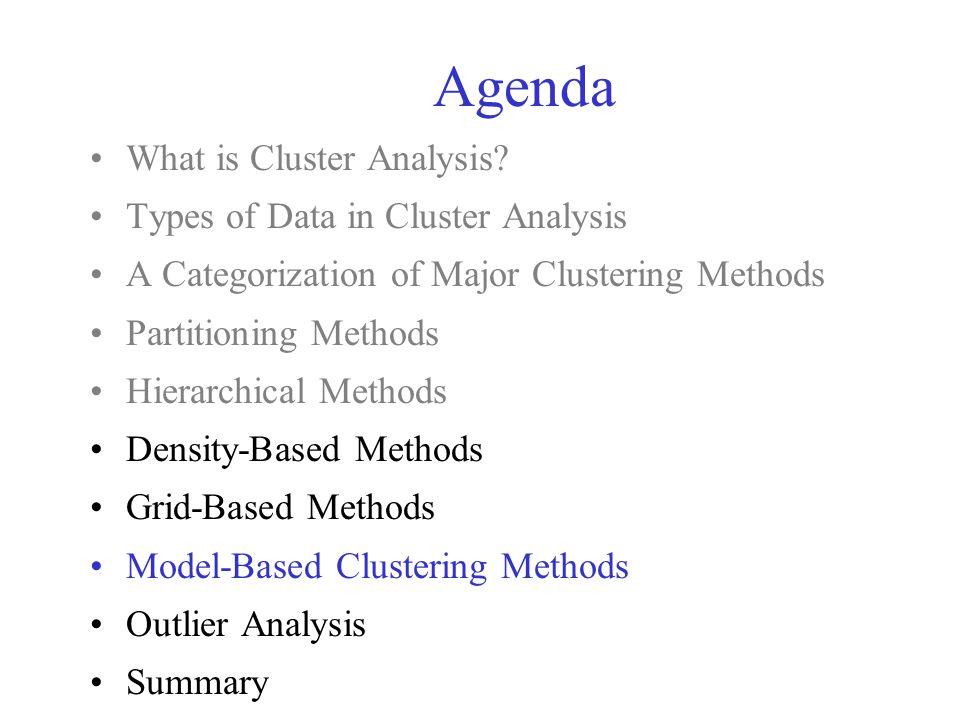 Model-Based Clustering What is model-based clustering.