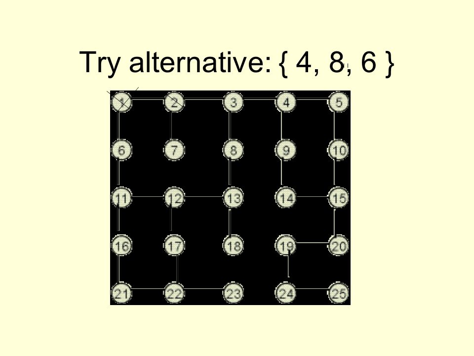 Try alternative: { 4, 8, 6 }