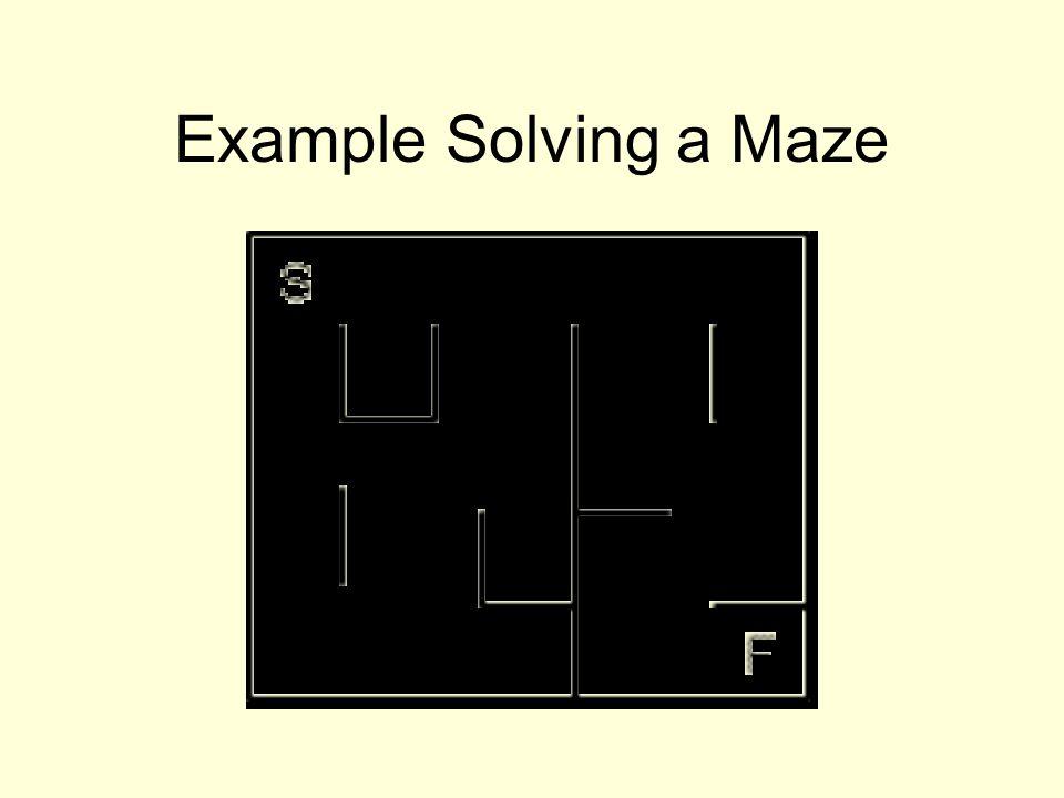 Example Solving a Maze