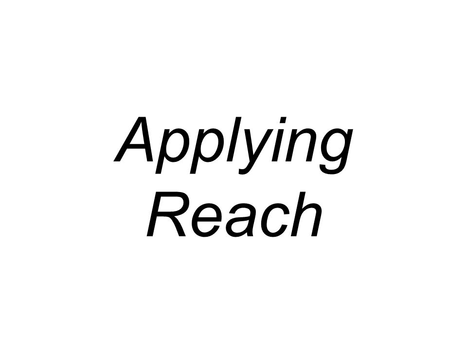 Applying Reach