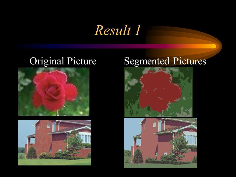 Result 1 Original PictureSegmented Pictures