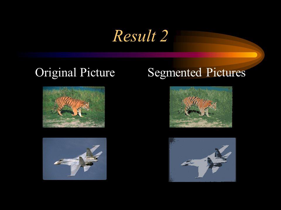 Result 2 Original PictureSegmented Pictures