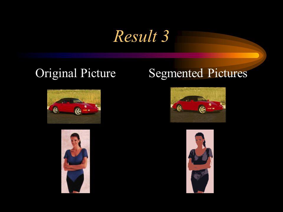 Result 3 Original PictureSegmented Pictures