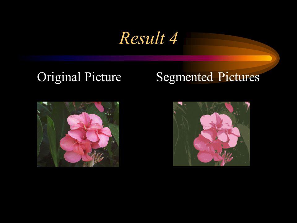 Result 4 Original PictureSegmented Pictures