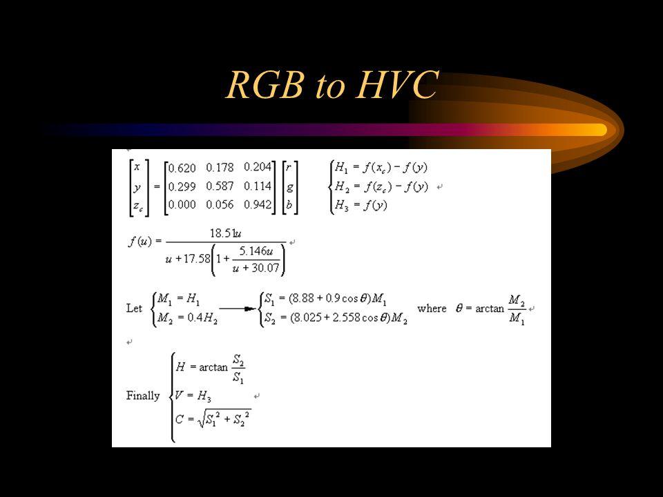 RGB to HVC